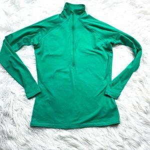 Nike Pro Half ZIP Pullover Sweatshirt Top Green